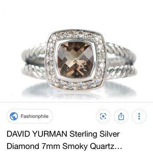 David Yurman Albion Smokey Quartz Ring